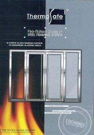 ThermoSafe Fire-Rated Glass Door-set in Steel Framing System